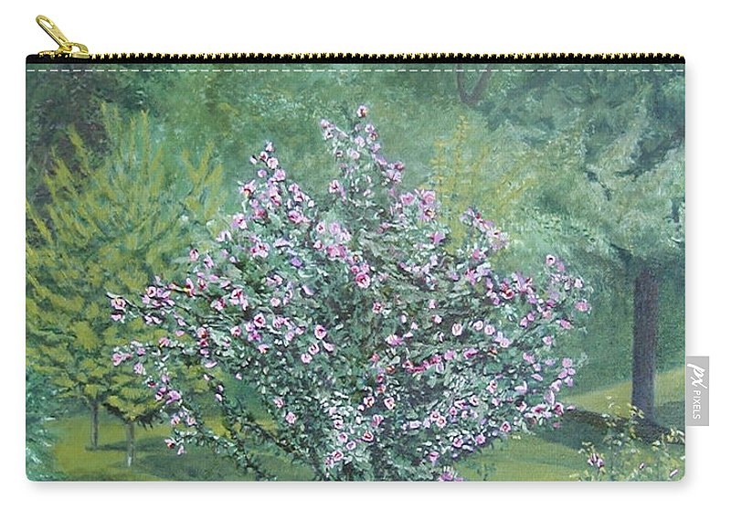 Blooming Carry-all Pouch featuring the painting Charles Street by Leah Tomaino