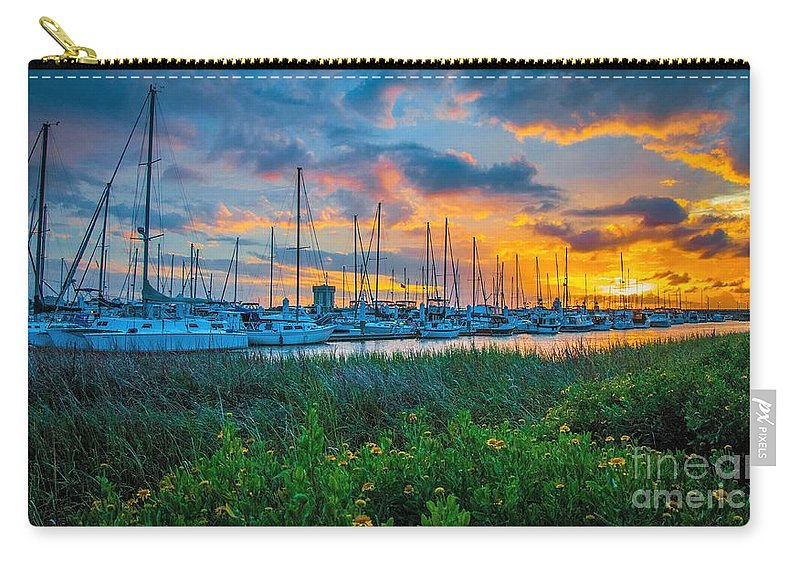 Charleston Carry-all Pouch featuring the photograph Charleston Marina by Yvette Wilson