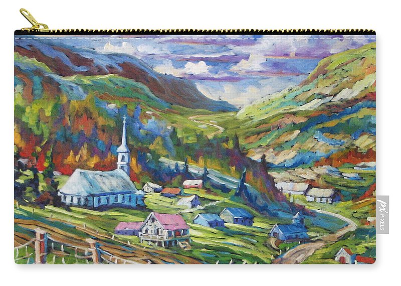 Charlevoix Carry-all Pouch featuring the painting Charlevoix Inspiration by Richard T Pranke