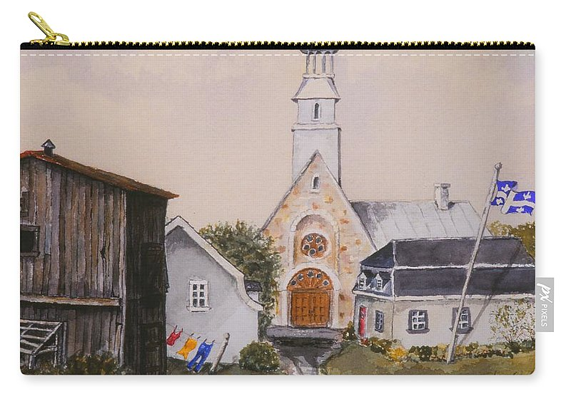 Landscape Carry-all Pouch featuring the painting Charlevoix Quebec by Mary Ellen Mueller Legault