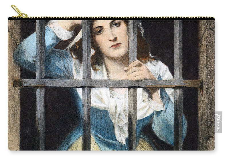18th Century Carry-all Pouch featuring the photograph Charlotte Corday by Granger