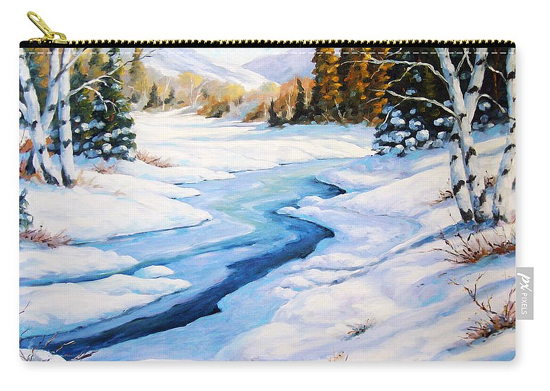 Winter Carry-all Pouch featuring the painting Charming Winter by Richard T Pranke