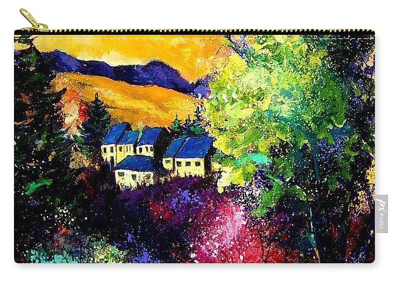 Landscape Carry-all Pouch featuring the painting Charnoy by Pol Ledent