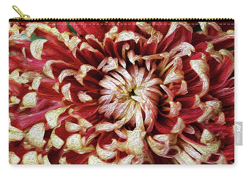 Flower Carry-all Pouch featuring the photograph Chase Perfection by Vanessa Thomas