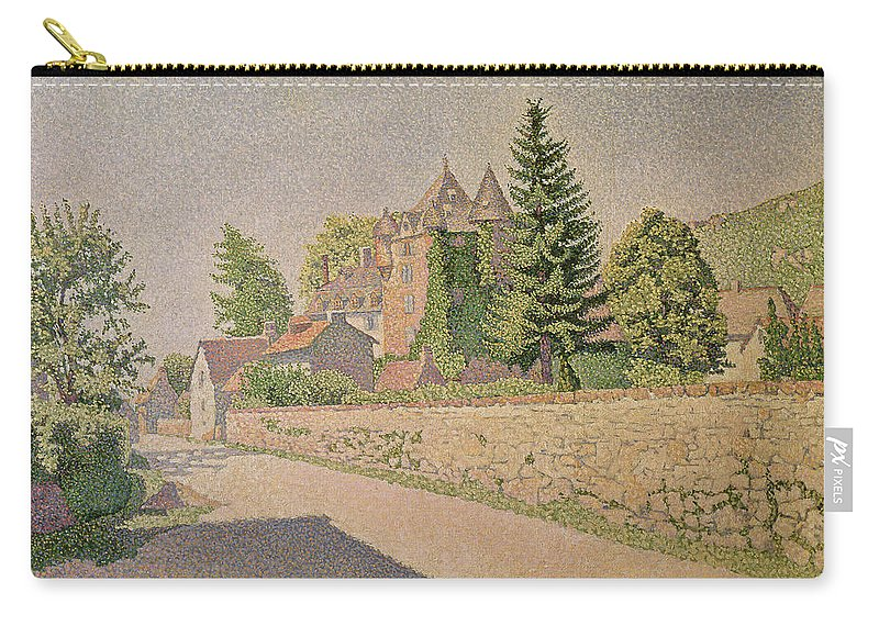Chateau De Comblat Carry-all Pouch featuring the painting Chateau De Comblat by Paul Signac