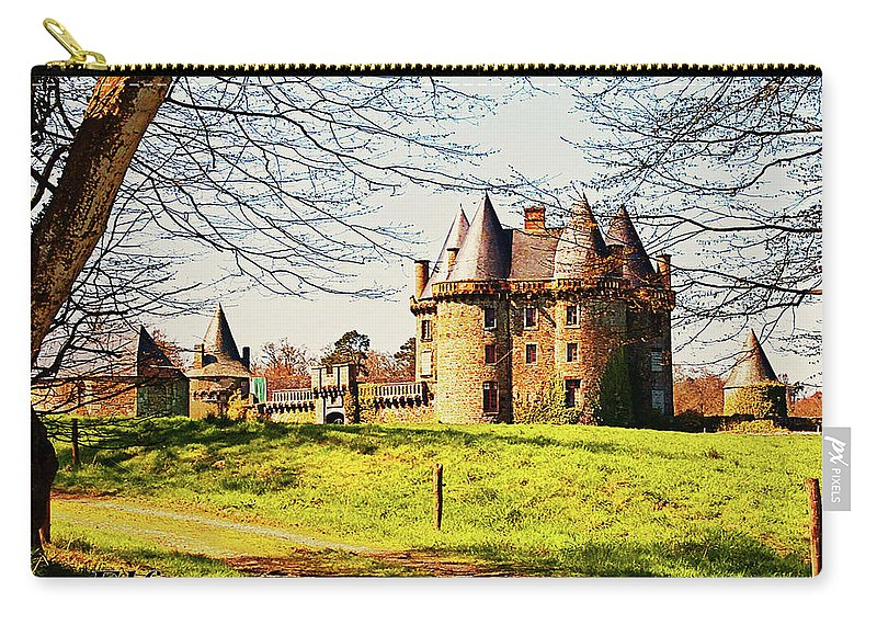French Architecture Carry-all Pouch featuring the photograph Chateau De Landale by Elf Evans