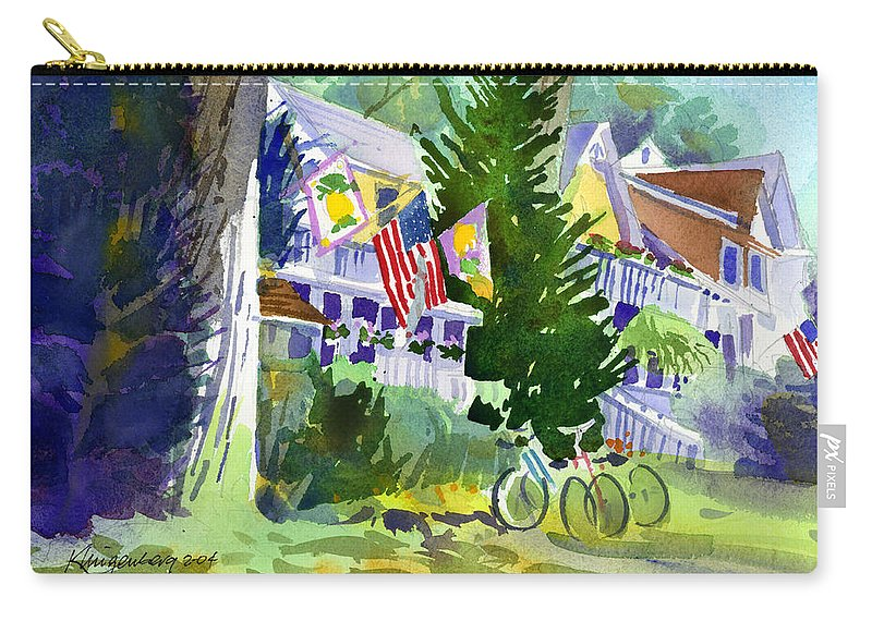 Chautauqua Institution Carry-all Pouch featuring the painting Chautauqua House by Lee Klingenberg