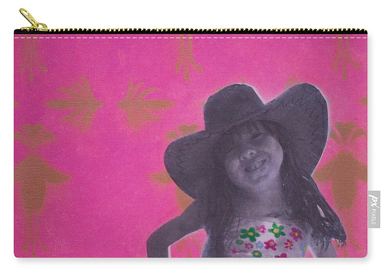 Cheeky Monkey Carry-all Pouch featuring the painting Cheeky Monkey by Gary Hogben