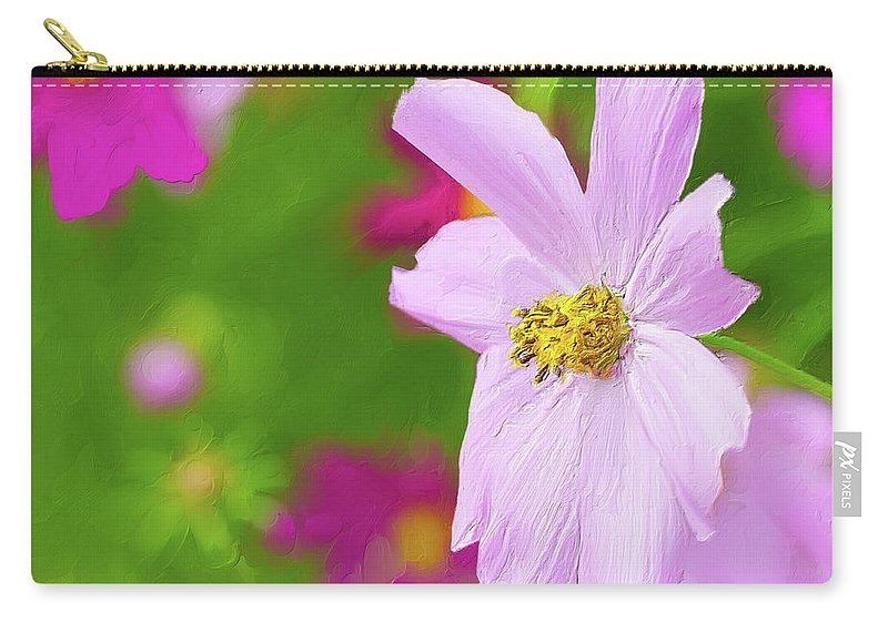 Landscape Carry-all Pouch featuring the digital art Cheerful Cosmos by Garvin Hunter