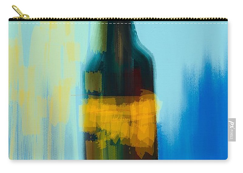 Oenophile Carry-all Pouch featuring the digital art Cheers by Mary Jane Mulholland