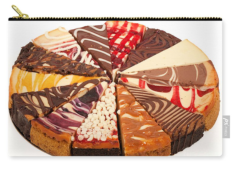Slices Carry-all Pouch featuring the photograph Cheesecake by Anthony Totah