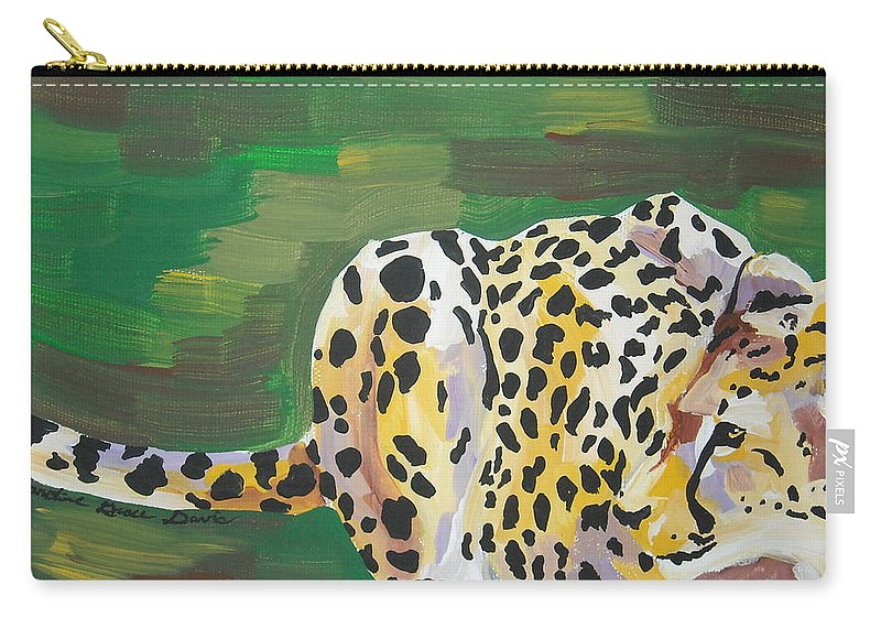 Cheetah Carry-all Pouch featuring the painting Cheetah by Caroline Davis