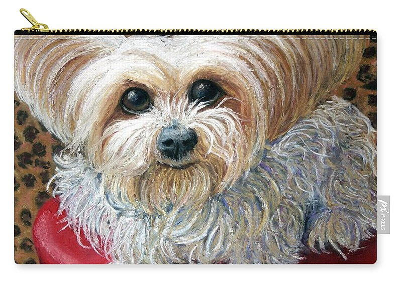 Dog Carry-all Pouch featuring the painting My Friend by Minaz Jantz