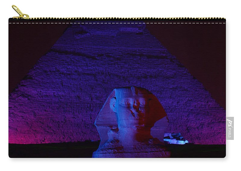 Pyramid Carry-all Pouch featuring the photograph Cheops In Blue by Donna Corless