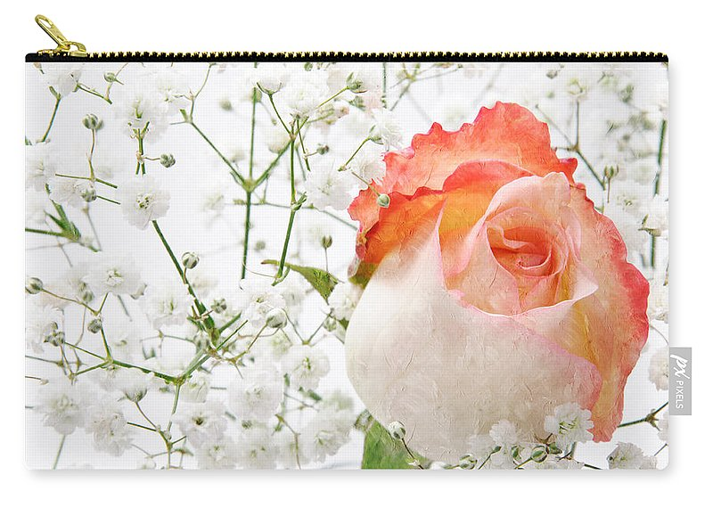 Pink Rose Carry-all Pouch featuring the photograph Cherish by Andee Design
