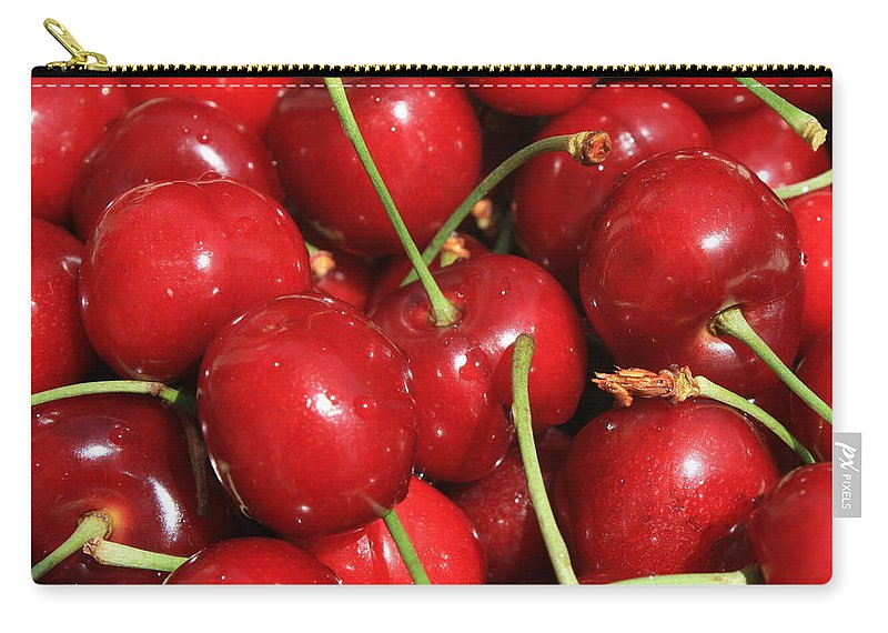 Food And Beverages Carry-all Pouch featuring the photograph Cherries by Carol Groenen