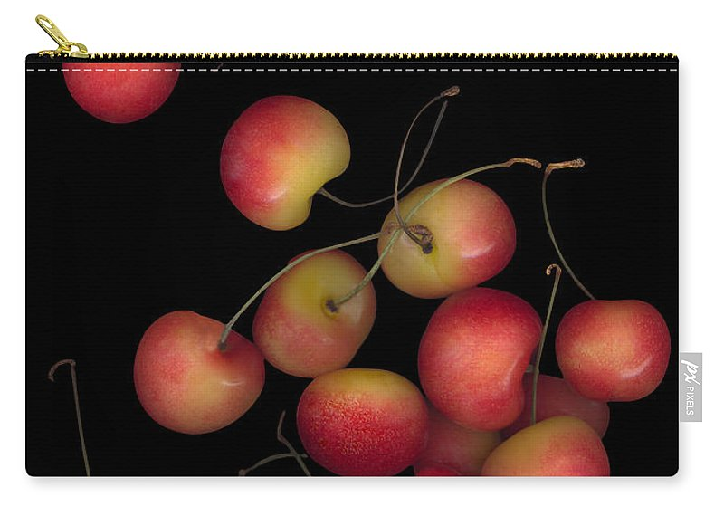 Cherries Carry-all Pouch featuring the photograph Cherries Multiplied by Heather Kirk