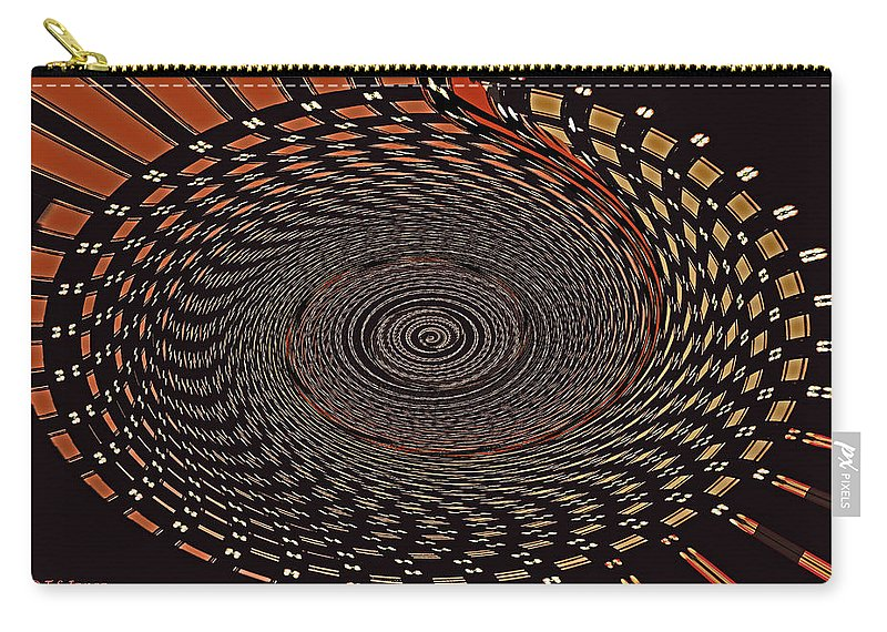 Cherry Basket Weaving Abstract Carry-all Pouch featuring the digital art Cherry Basket Weaving Abstract by Tom Janca