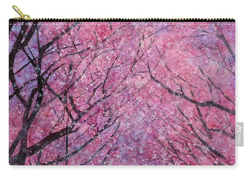 Cherry Blossom Carry-all Pouch featuring the painting Cherry Blast by Hailey E Herrera