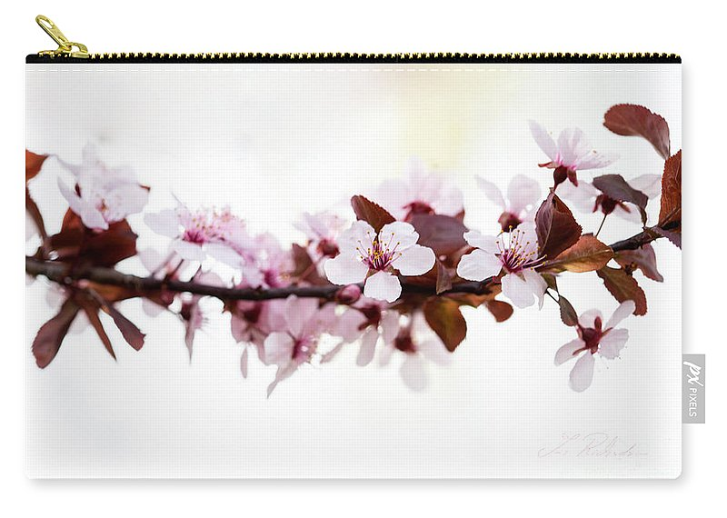 Cherry Blossom Carry-all Pouch featuring the photograph Cherry Blossom Branch by Iris Richardson