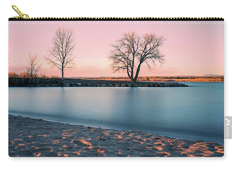 Cherry Creek Carry-all Pouch featuring the photograph Cherry Creek First Light by Chris Augliera