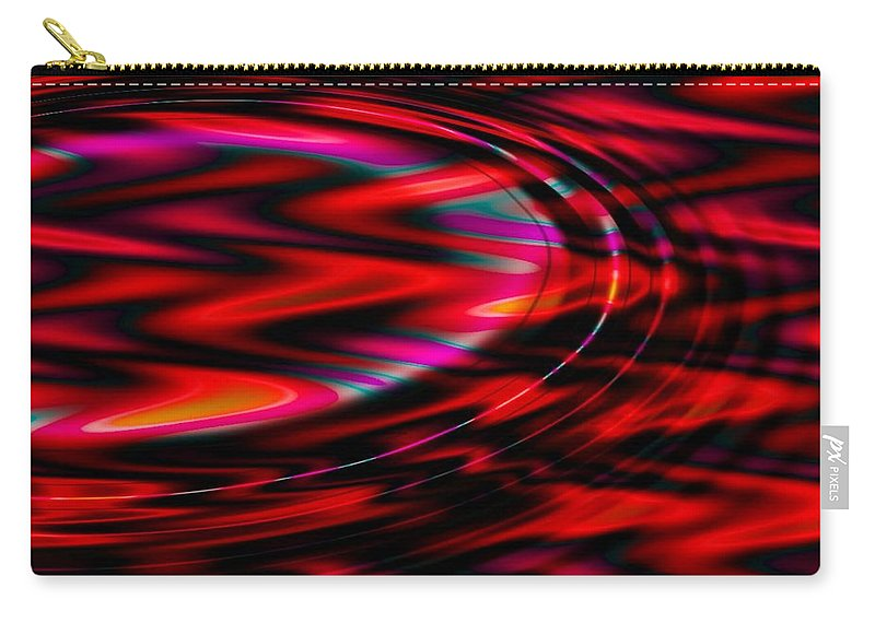 Wave Carry-all Pouch featuring the digital art Cherry Red by Robert Orinski