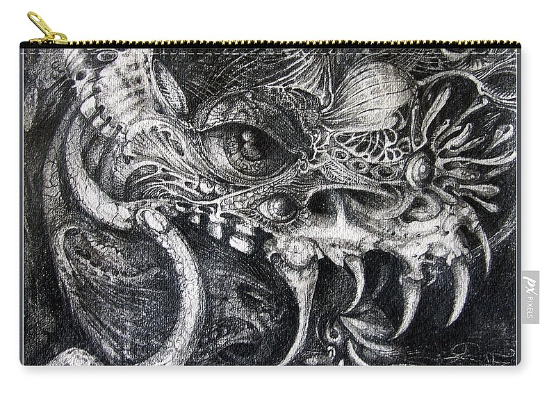 Carry-all Pouch featuring the drawing Cherubim Of Beasties by Otto Rapp