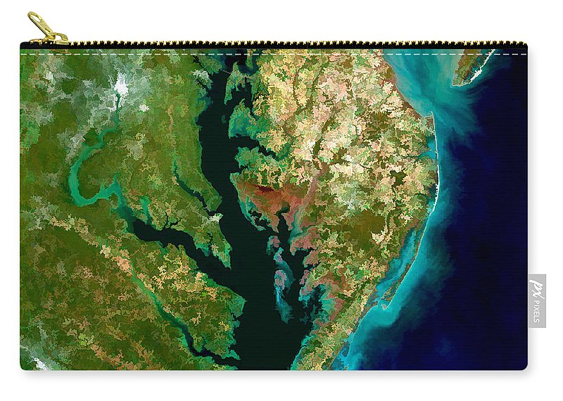 Chesapeake Bay Carry-all Pouch featuring the painting Chesapeake Bay by Elaine Plesser