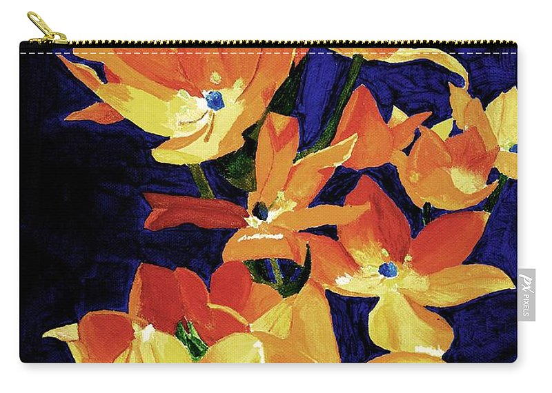 sun Star Carry-all Pouch featuring the painting Chesapeake Sunset by Rodney Campbell