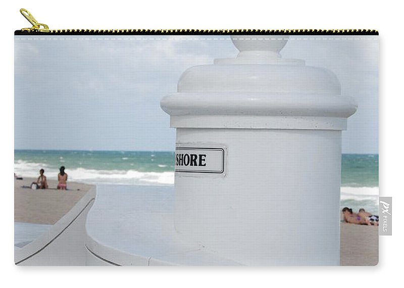 Shore Carry-all Pouch featuring the photograph Chess Pawn Shore by Rob Hans