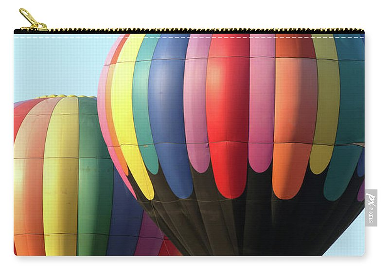 Hot Air Balloons Carry-all Pouch featuring the photograph Chester County Balloon Fest 8765 by Terri Winkler