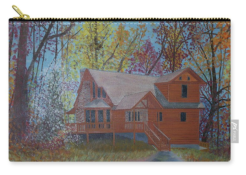 Autumn Carry-all Pouch featuring the painting Chestnut Hills by Hal Newhouser
