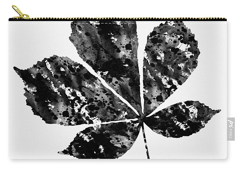 Chestnut Leaf Carry-all Pouch featuring the digital art Chestnut Leaf by Erzebet S