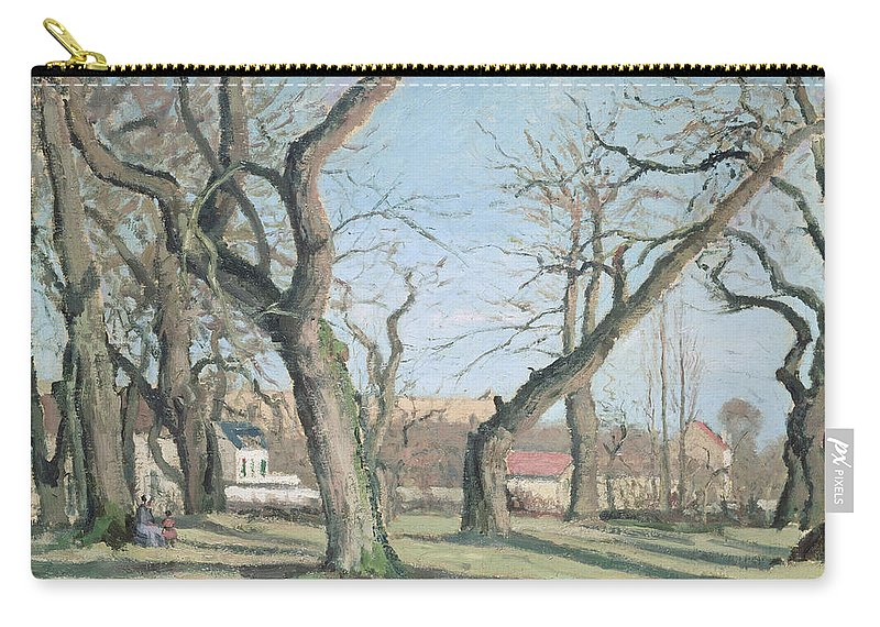 Chestnut Carry-all Pouch featuring the painting Chestnut Trees At Louveciennes by Camille Pissarro