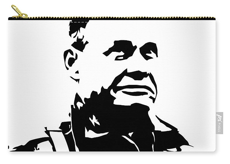 Chesty Puller Carry-all Pouch featuring the digital art Chesty Puller by War Is Hell Store