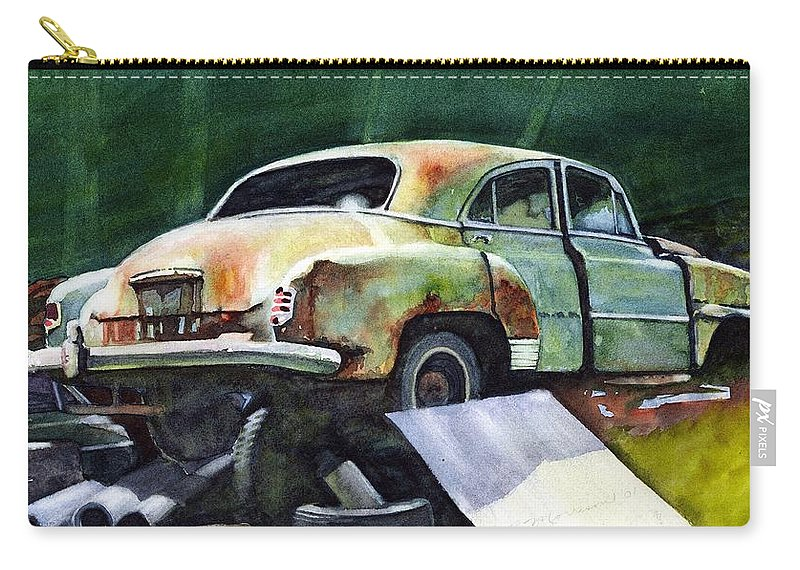 Chev Carry-all Pouch featuring the painting Chev At Rest by Ron Morrison