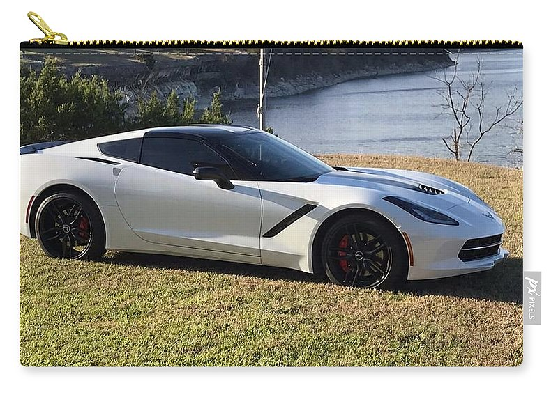 Chevrolet Corvette Stingray Carry-all Pouch featuring the photograph Chevrolet Corvette Stingray by Jackie Russo
