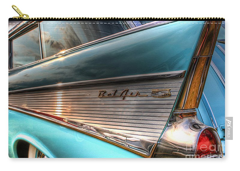 Chevy Carry-all Pouch featuring the photograph Chevy Bel Air by Joel Witmeyer