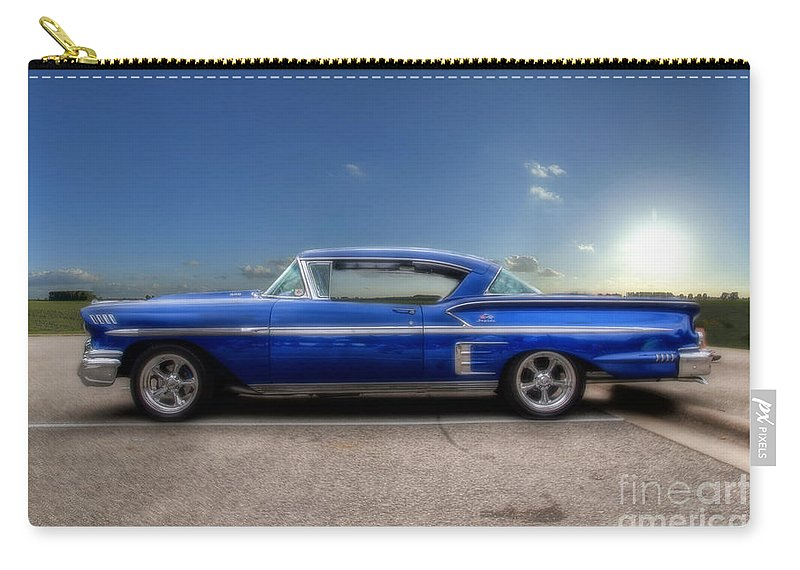 Chevy Carry-all Pouch featuring the photograph Chevy Impala by Joel Witmeyer