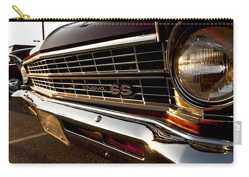Chevy Carry-all Pouch featuring the photograph Chevy Nova Ss by Cale Best