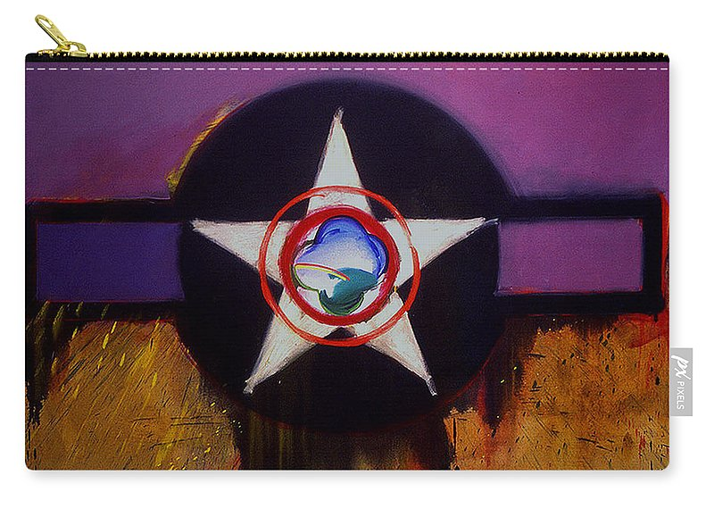 Air Force Insignia Carry-all Pouch featuring the painting Cheyenne Autumn by Charles Stuart