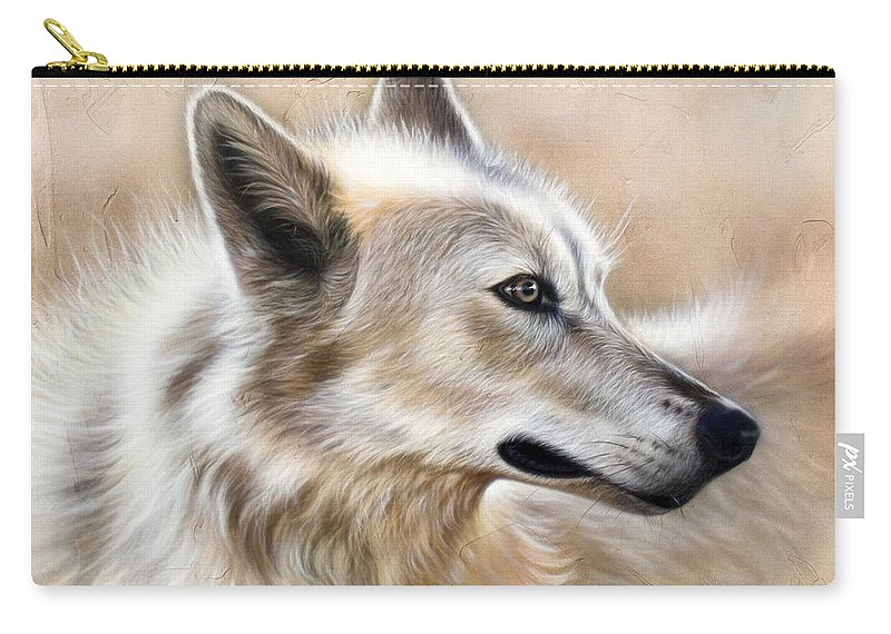 Acrylic Carry-all Pouch featuring the painting Cheyenne by Sandi Baker