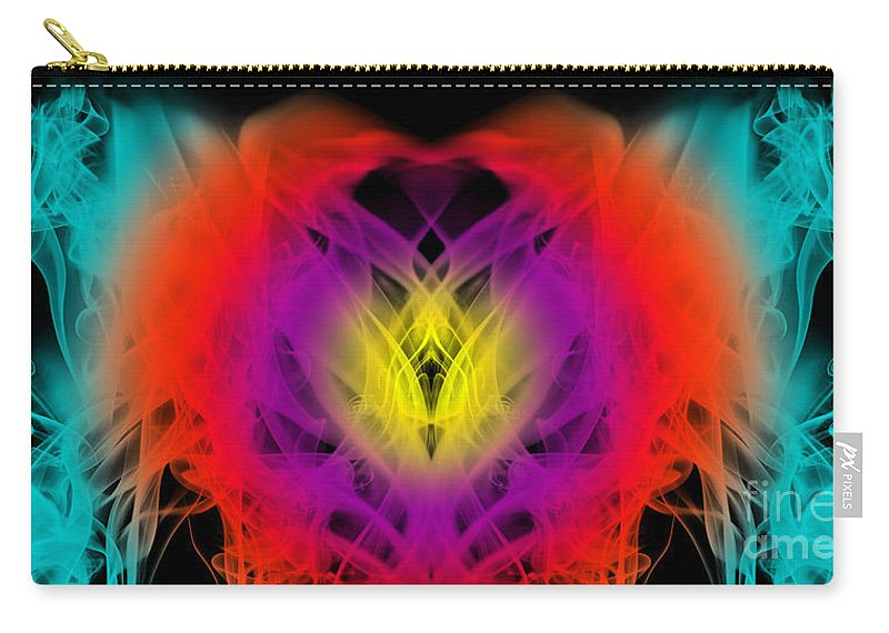 Clay Carry-all Pouch featuring the digital art Chi by Clayton Bruster
