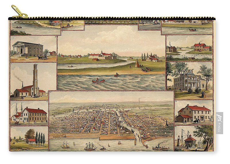 Chicago Carry-all Pouch featuring the photograph Chicago 1779-1857 by Andrew Fare