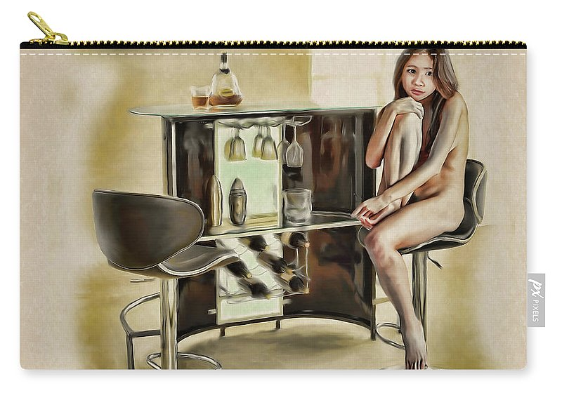 Salome Carry-all Pouch featuring the painting Chicago - Asian American Series by Salome Hooper