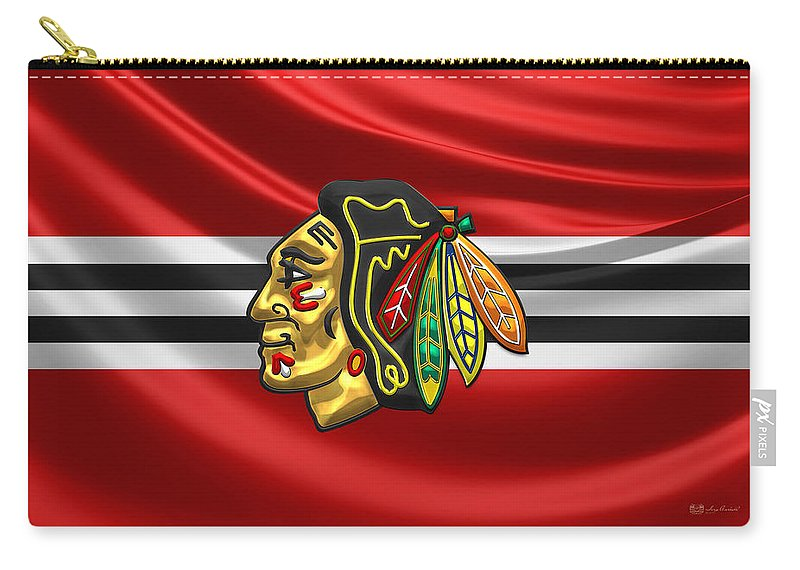 �hockey Hall Of Fame� Collection By Serge Averbukh Carry-all Pouch featuring the photograph Chicago Blackhawks by Serge Averbukh