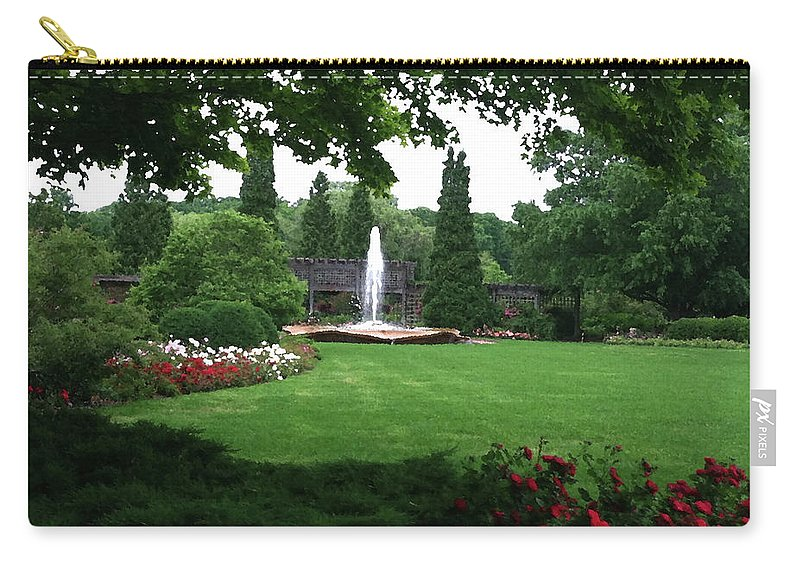 Landscape Carry-all Pouch featuring the photograph Chicago Botanical Gardens Landscape by Steve Karol