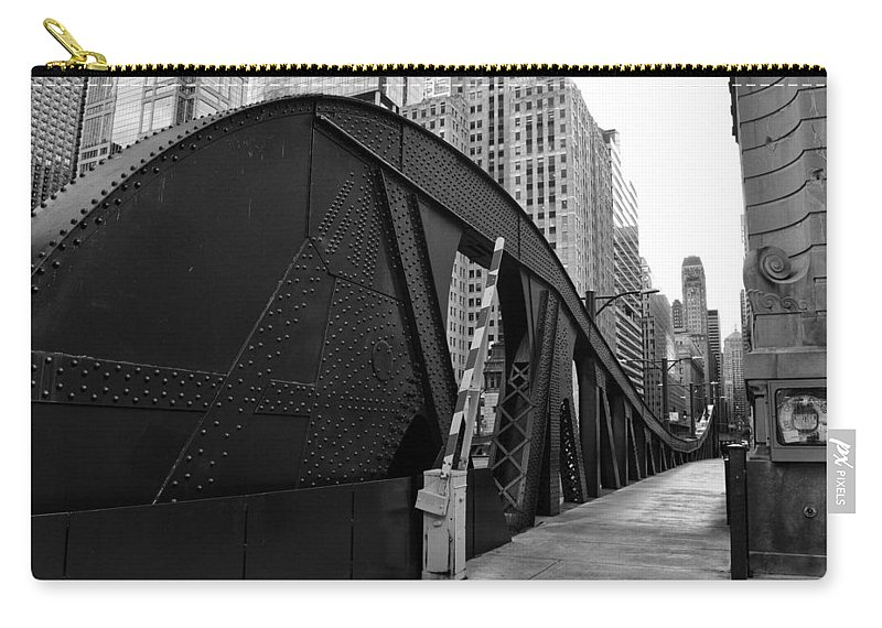 Chicago Carry-all Pouch featuring the photograph Chicago Bridge by Joseph Caban
