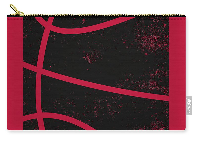 Bulls Carry-all Pouch featuring the mixed media Chicago Bulls City Poster Art 2 by Joe Hamilton
