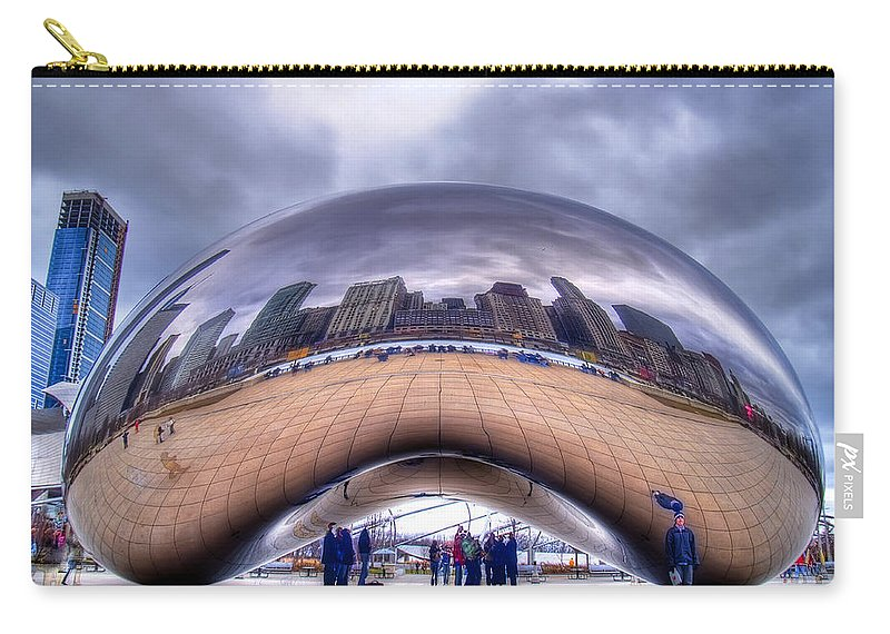 Chicago Carry-all Pouch featuring the photograph Chicago Cloud Gate by Tammy Wetzel
